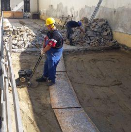 IX.kerület Soroksári út 42 beszakadt társasházi udvar helyreállítása – Közben
